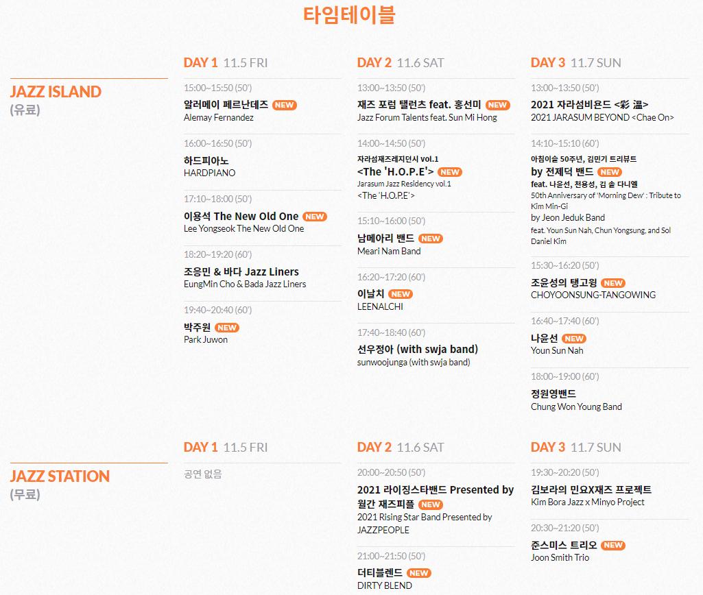 [자라섬 재즈페스티벌] 오토캠핑 사이트 1박/2박 + 재즈 페스티벌 이용권